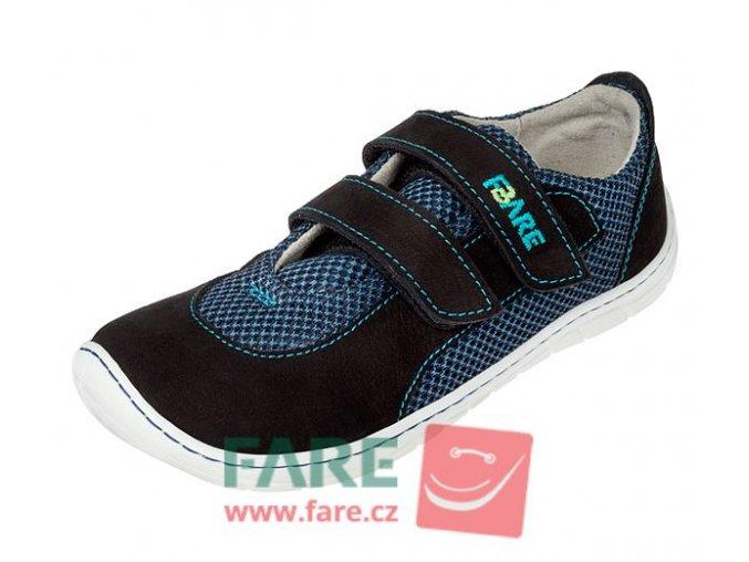 Fare bare tenisky B5515201 - modré s okopem