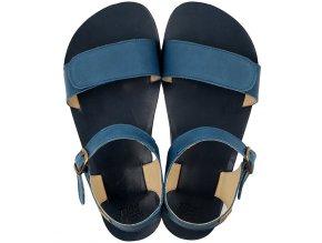 sandale dama barefoot navy 21463 4