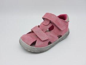 Jonap Barefoot B8 MF - devon (růžové třpytivé) sandálky SLIM