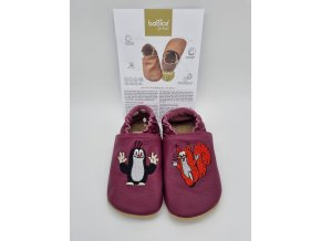 baBice barefoot capáčky EM030 - Krteček burgundy