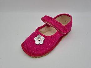 Beda Barefoot bačkůrky balerínky růžová třpytka BF-060010/BA