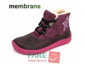 FARE BARE DĚTSKÉ ZIMNÍ NEPROMOKAVÉ B5543291,B5443291 růžové s gumičkou s membránou