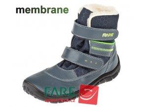 FARE BARE DĚTSKÉ ZIMNÍ NEPROMOKAVÉ B5441101/B5541101 modré hladká kůže na suché zipy