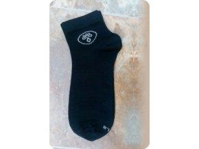 Surtex ponožky tmavé společenské kotníkové 95% merino