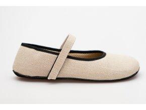 barefoot vegan balerinka lnena prirodni