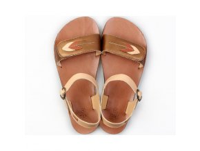 vibe barefoot women s sandals browny leaves in stock 5574 4