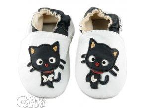 capáčky Kočička černo bílá 5