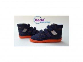 Beda barefoot BLUE Mandarine zimní s membránou 0001/W/MK/vyšší