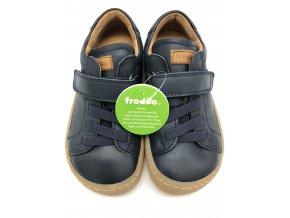 Froddo barefoot celoroční nižší G3130149-1 DARK BLUE - 1 suchý zip a gumička