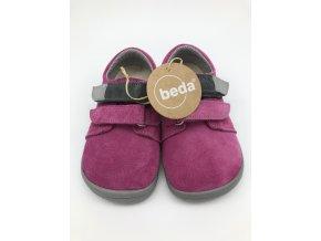Beda Barefoot nízké REBECCA (šedý pásek) na suchý zip