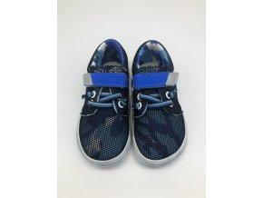 Jonap Barefoot B7 síťované modré SLIM TKANIČKA a suchý zip