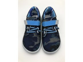 Jonap Barefoot B7 síťované modré TKANIČKA a suchý zip