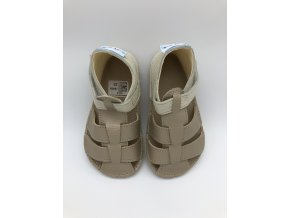 Baby Bare Shoes Sandals Gold