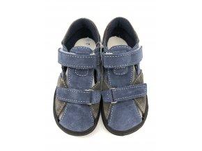 Jonap Barefoot B8 - modro/šedé sandálky SLIM
