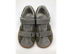Jonap Barefoot B8 - šedo/zelené sandálky