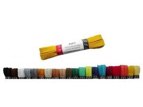 Tkaničky PLOCHÉ bavlněné barevné 110 cm