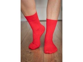 Be lenka barefootové ponožky - červené vysoké