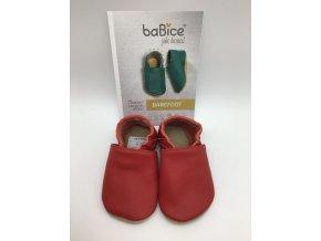 baBice barefoot capáčky BA055 - červené
