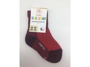 Surtex ponožky 80% merino, dětské,volný lem - červené