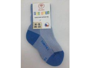 Surtex ponožky 80% merino, dětské,volný lem - světle modré