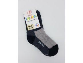 Surtex ponožky 80% merino, dětské,volný lem - šedé