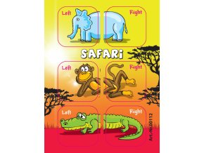 Samolepky Edushoe safari zvířátka
