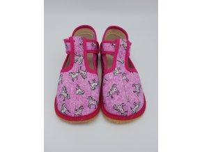 Beda Barefoot bačkůrky, UŽŠÍ, růžový koník BF-060010/W/02