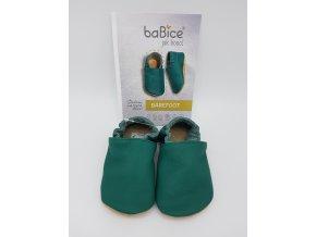 baBice barefoot capáčky BA137 - tmavě zelené