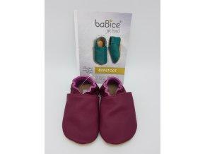 baBice barefoot capáčky BA140 - burgundy
