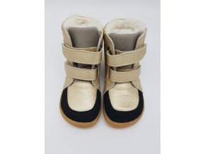 Baby Bare Shoes Febo Winter gold