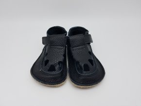 Baby Bare Shoes IO All Black - Summer perforation