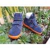Beda Barefoot zimní vyšší Blue mandarine zimní s membránou BF 0004/W/VMK
