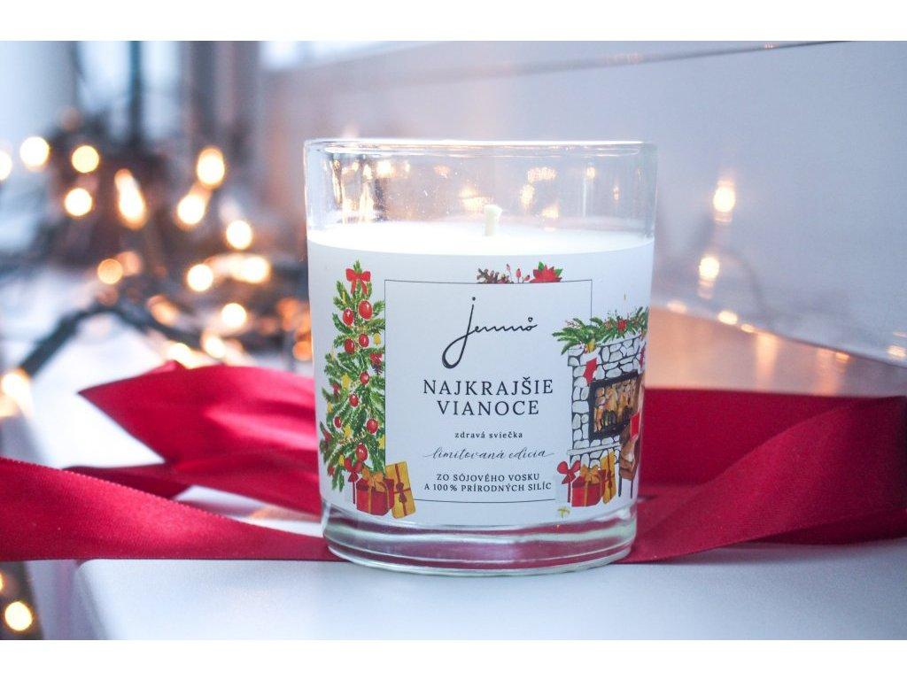 Najkrajšie Vianoce sójová sviečka Jemnô limitovaná edícia zivotbezodpadu 1