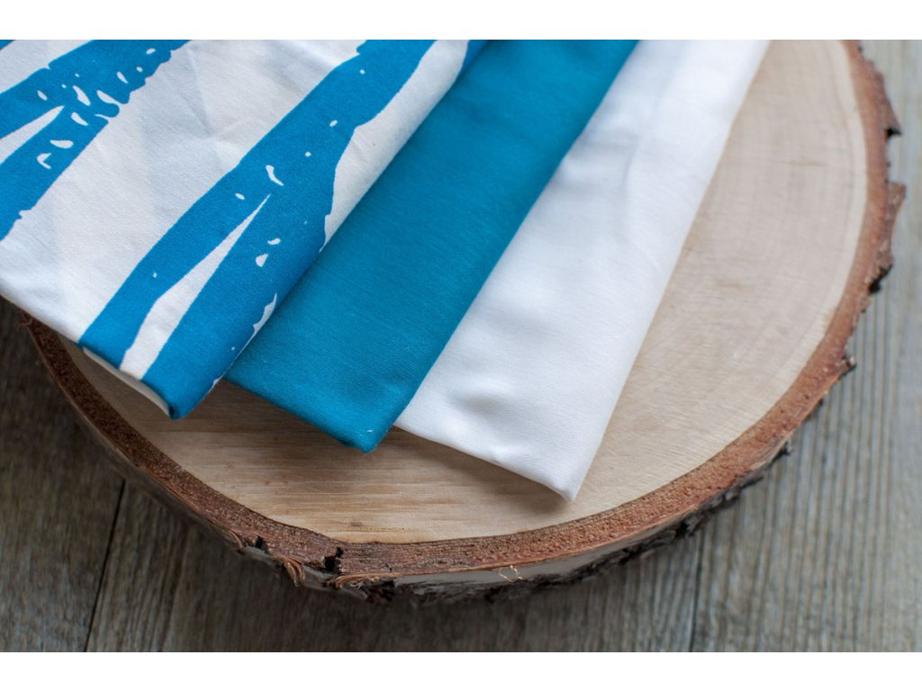 Vreckovky z biobavlneného saténu pánske natural modrá (6 ks mix) CASA Organica Tierra Verde
