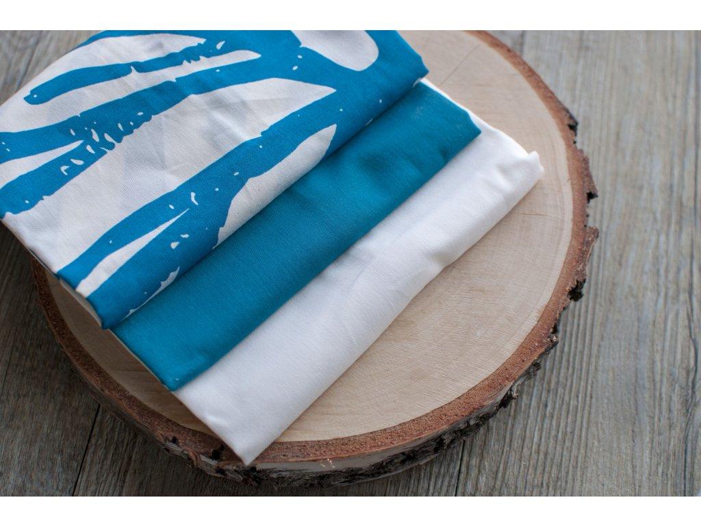 Pánske vreckovky z biobavlneného saténu mix (natural modrá) 6 ks CASA Organica Tierra Verde