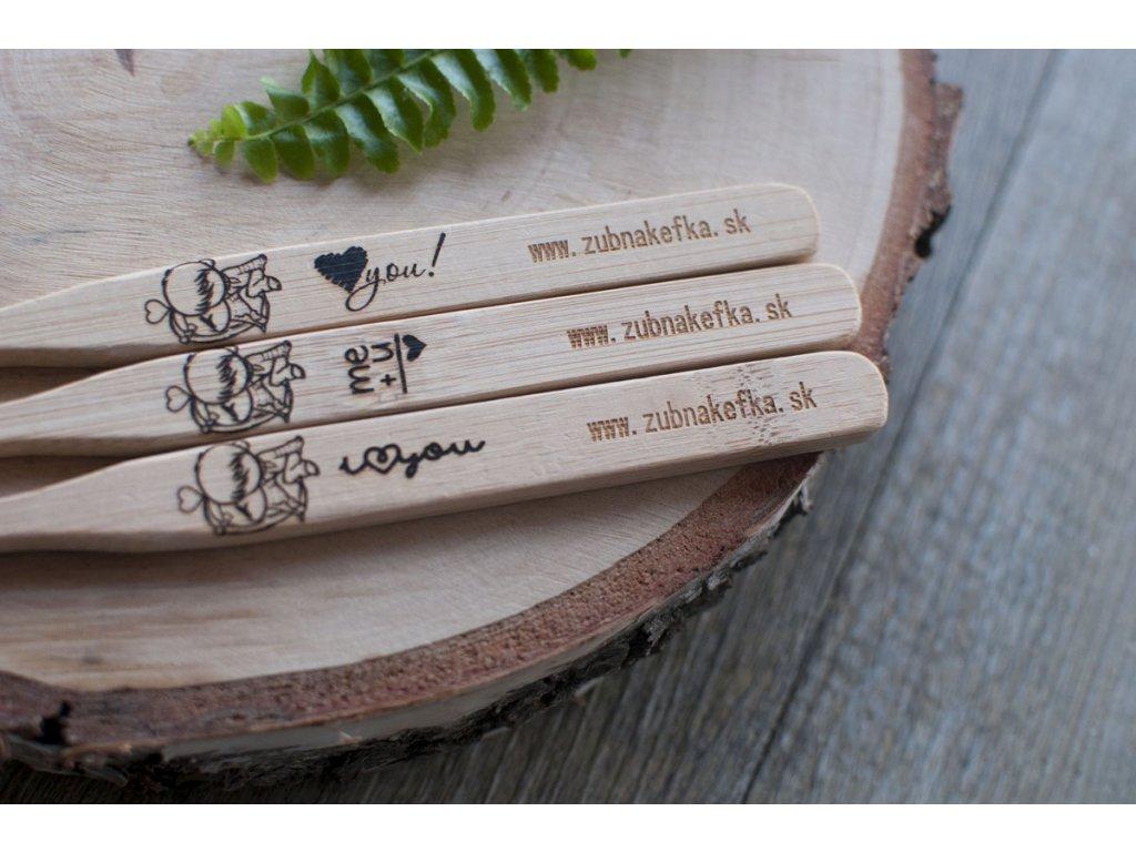 Zaľúbená bambusová zubná kefka Zubnakefka