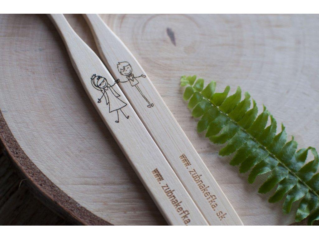 Sada bambusových zubných kefiek %22Pár%22 Zubnakefka