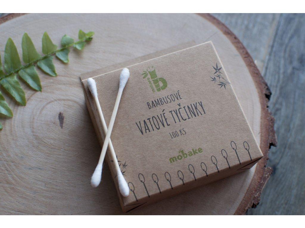 Bambusové tyčinky do uší (100 ks) Mobake 7