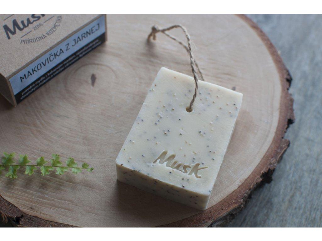Prírodné pílingové mydlo %22MAKOVIČKA Z JARNEJ%22 MusK 2