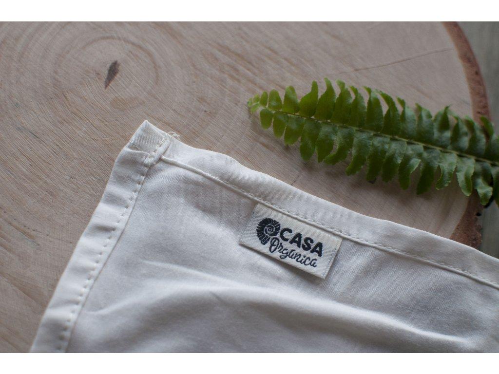 Dámska vreckovka z biobavlneného saténu natural bezobalová CASA Organica Tierra Verde 1
