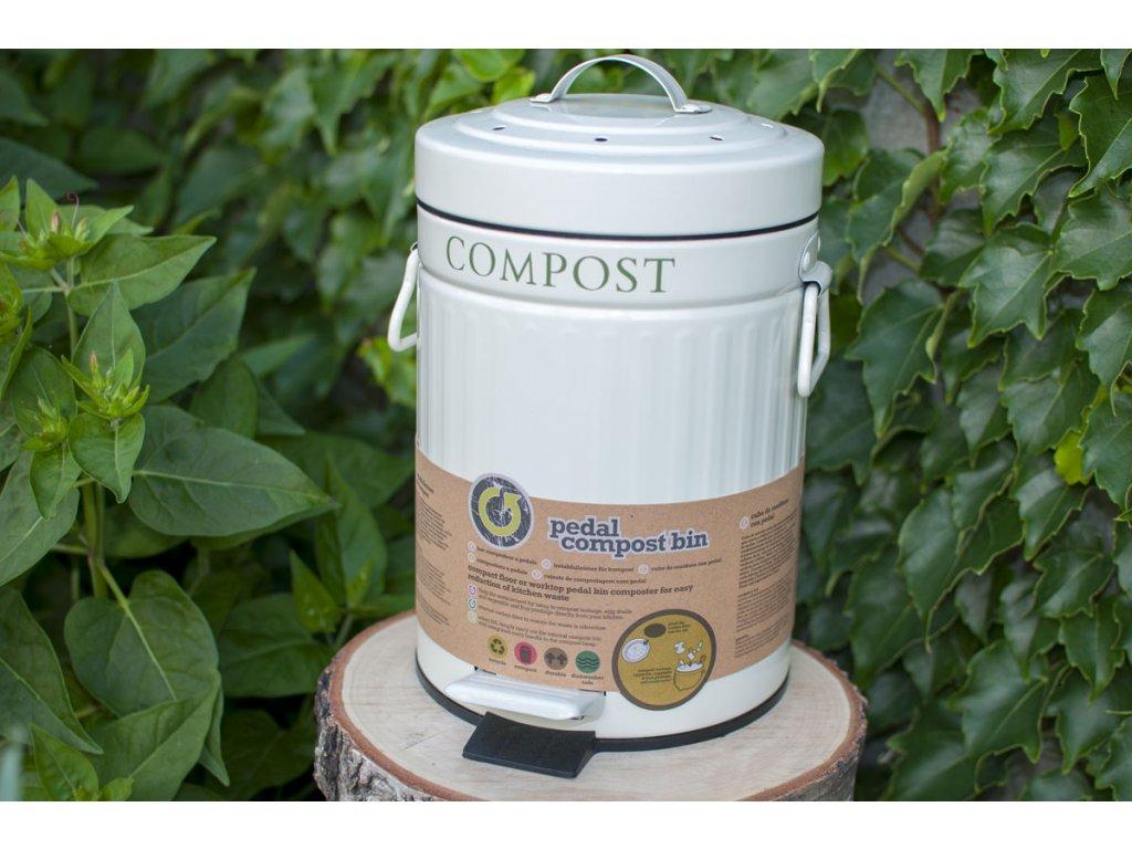 Kuchynský kôš na bioodpad plechový s pedálom (3 l) Kitchen Craft