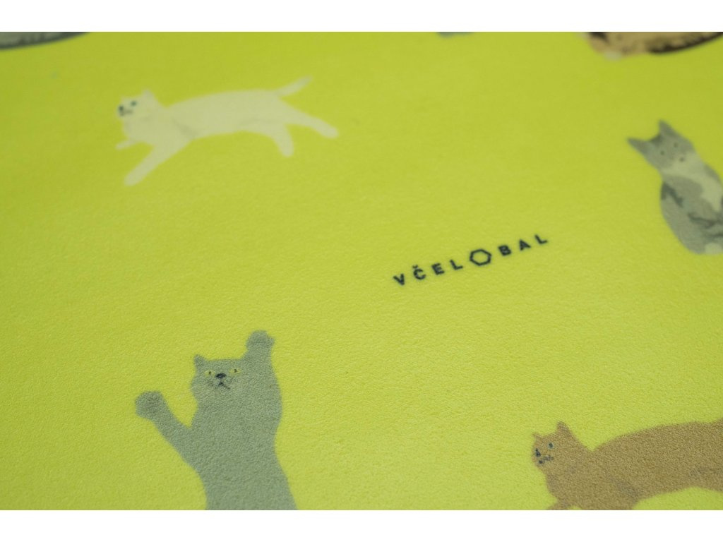 Pani Bagetka Mačiatka zo vzorovanej biobavlny (20 x 18 cm) veľkosť S Včelobal 30