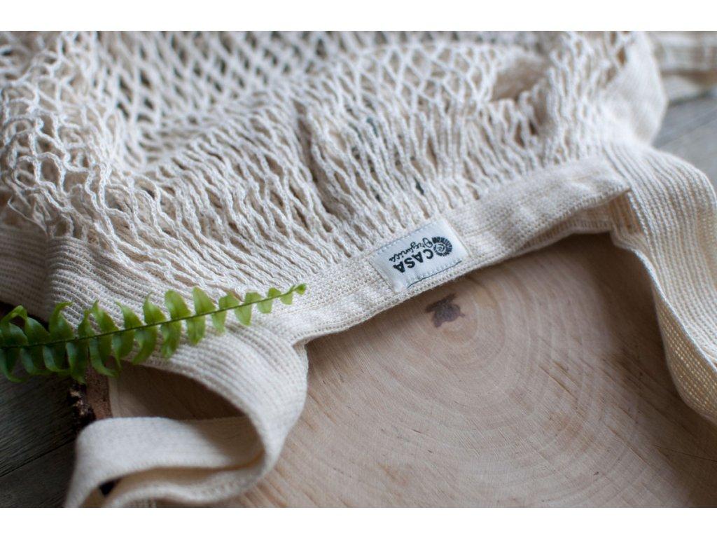 Sieťovka z biobavlny natural CASA Organica Tierra Verde 20