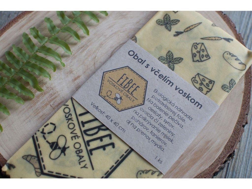 Obrúsok s včelím voskom %22FiBee%22 FiBee voskové obaly 2