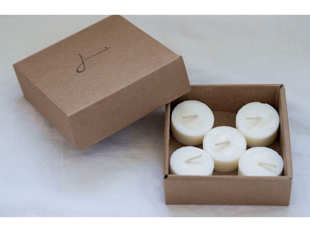 Bezodpadové čajové sviečky Jemnô náhradné náplne (5 ks) Jemnô 21