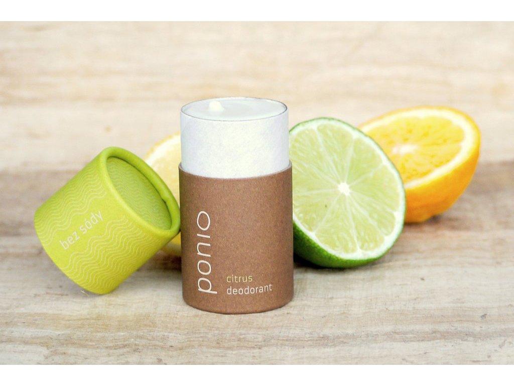 Pazúch Citrus sodafree prírodný deodorant bez sódy Ponio 10