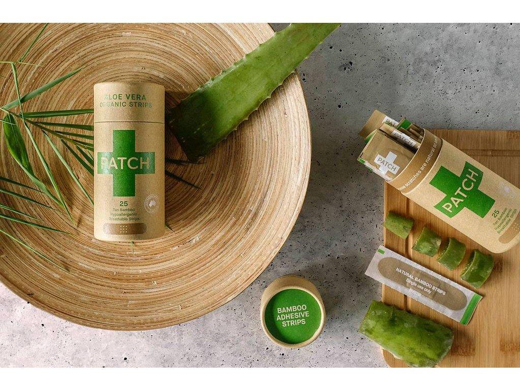 Bambusové kompostovateľné náplaste s aloe vera (tmavé) Nutricare
