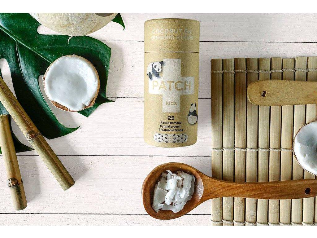 Bambusové kompostovateľné náplaste s kokosovým olejom pre deti Nutricare 22