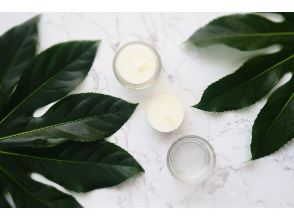 Sklenený svietnik pre čajovú sviečku - Jemnô