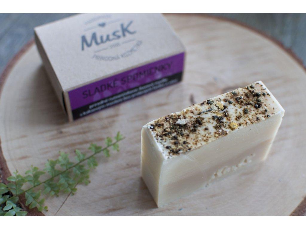 Prírodné mydlo pre citlivú pokožku %22SLADKÉ SPOMIENKY%22 MusK 2